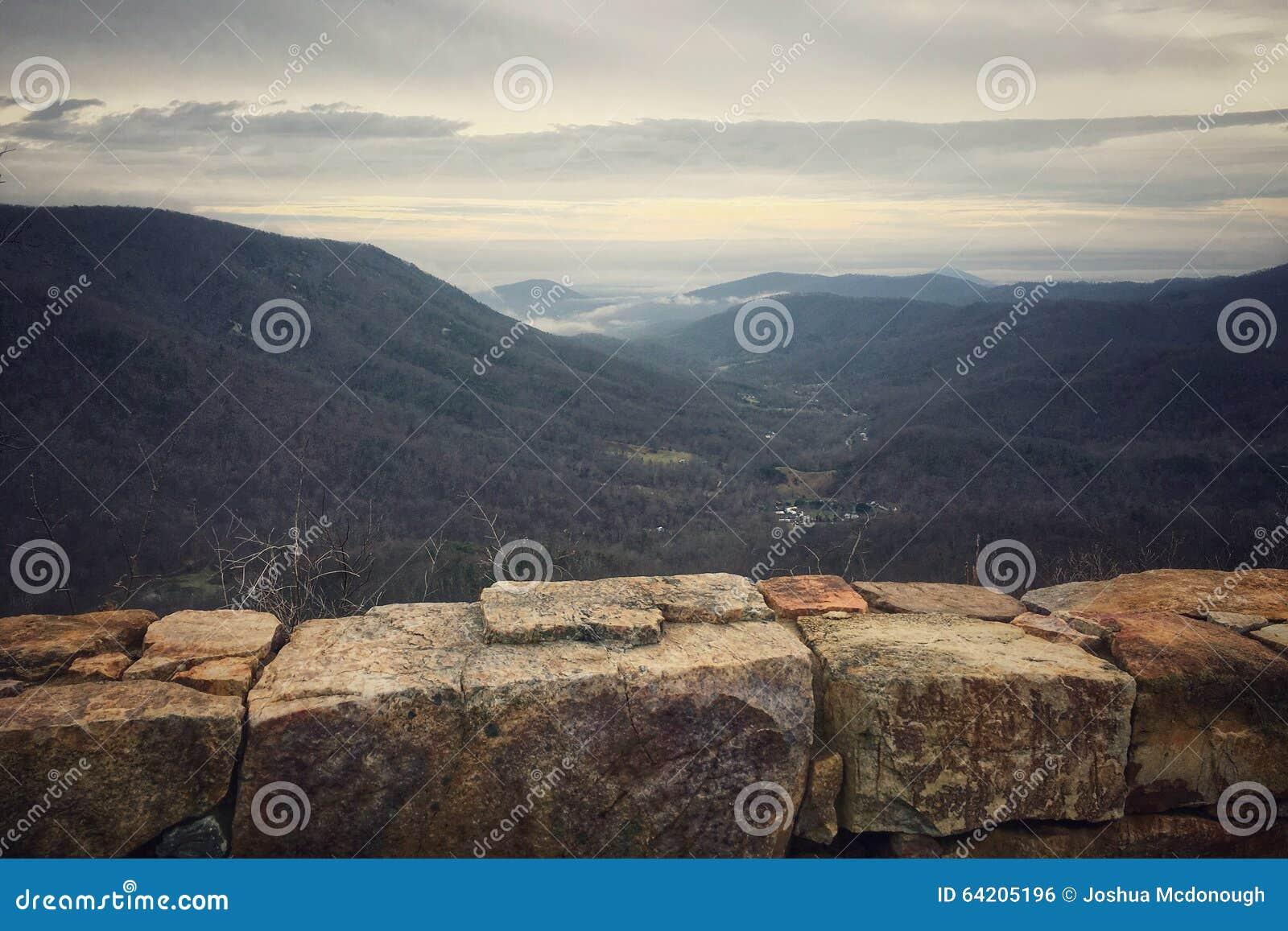 Paisaje de la montaña de Shenandoah