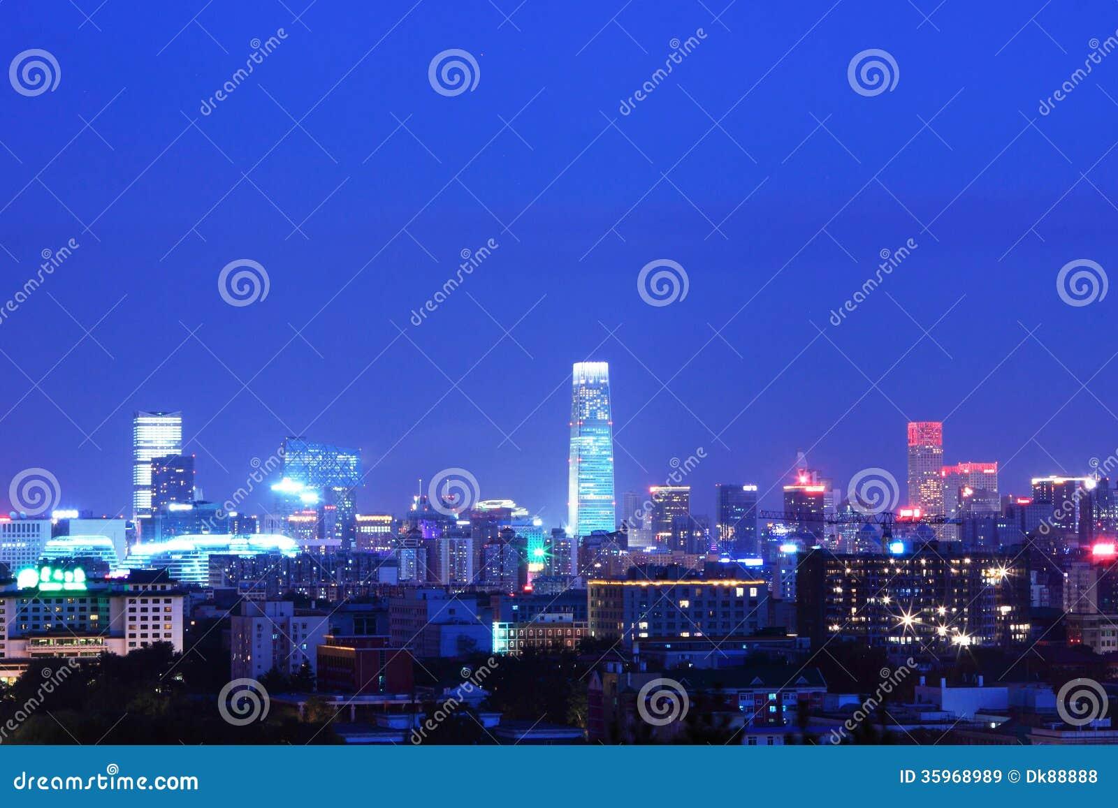 Paisaje de la noche de Pekín