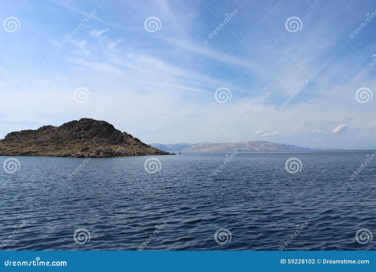 Paisaje de la playa croata