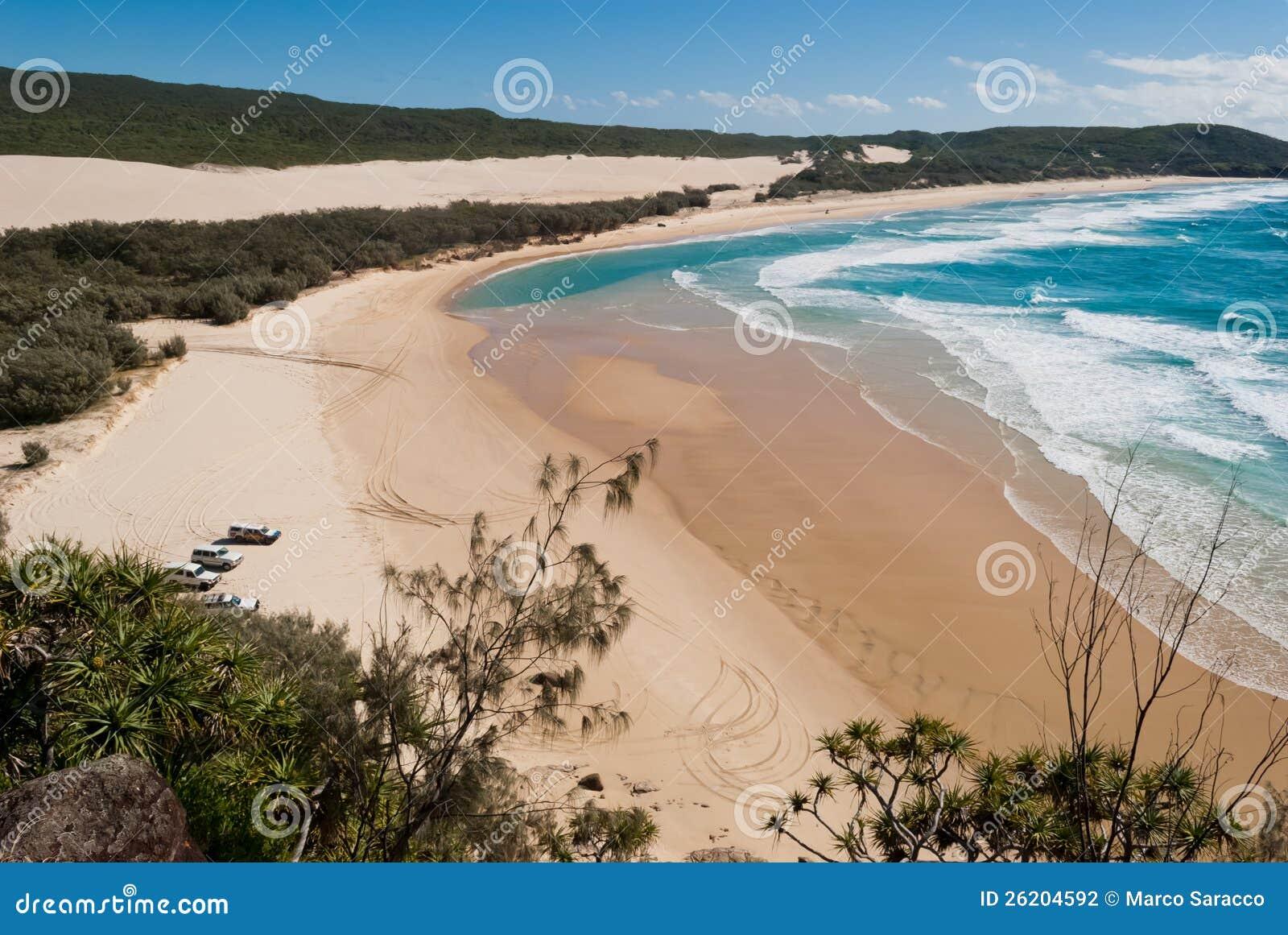 Paisaje de la playa de la isla de Fraser