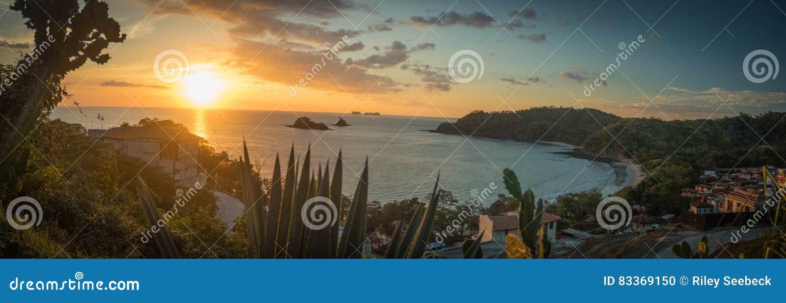 Paisaje de la puesta del sol, provincia de Guanacaste, Costa Rica