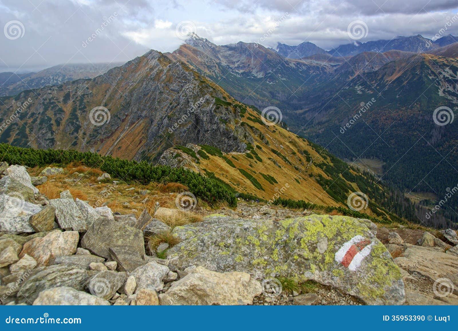 Paisaje de las altas montañas de Tatras, Polonia