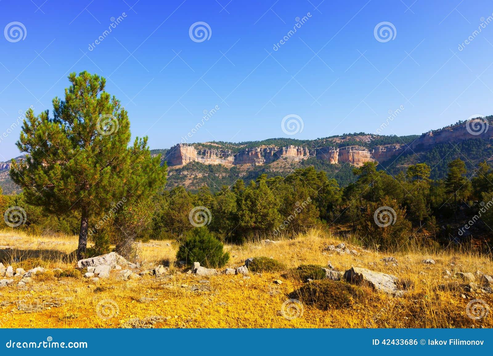Paisaje de las montañas de Sierra de Cuenca