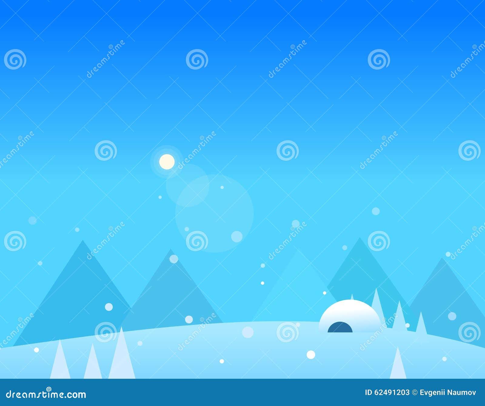 Paisaje de las monta as del invierno igl del papel - Papel pintado paisaje ...