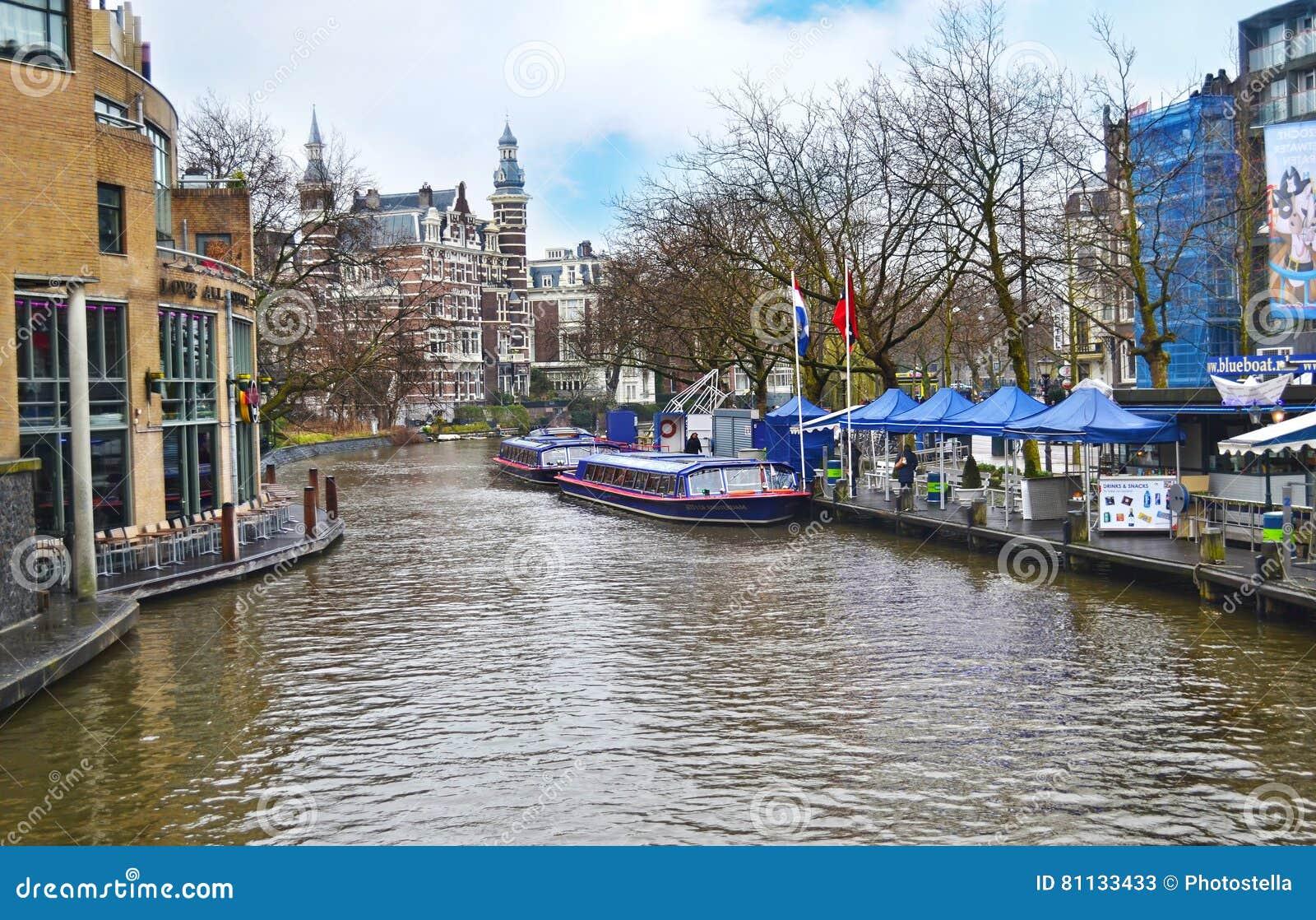 paisaje de los canales holanda de amsterdam
