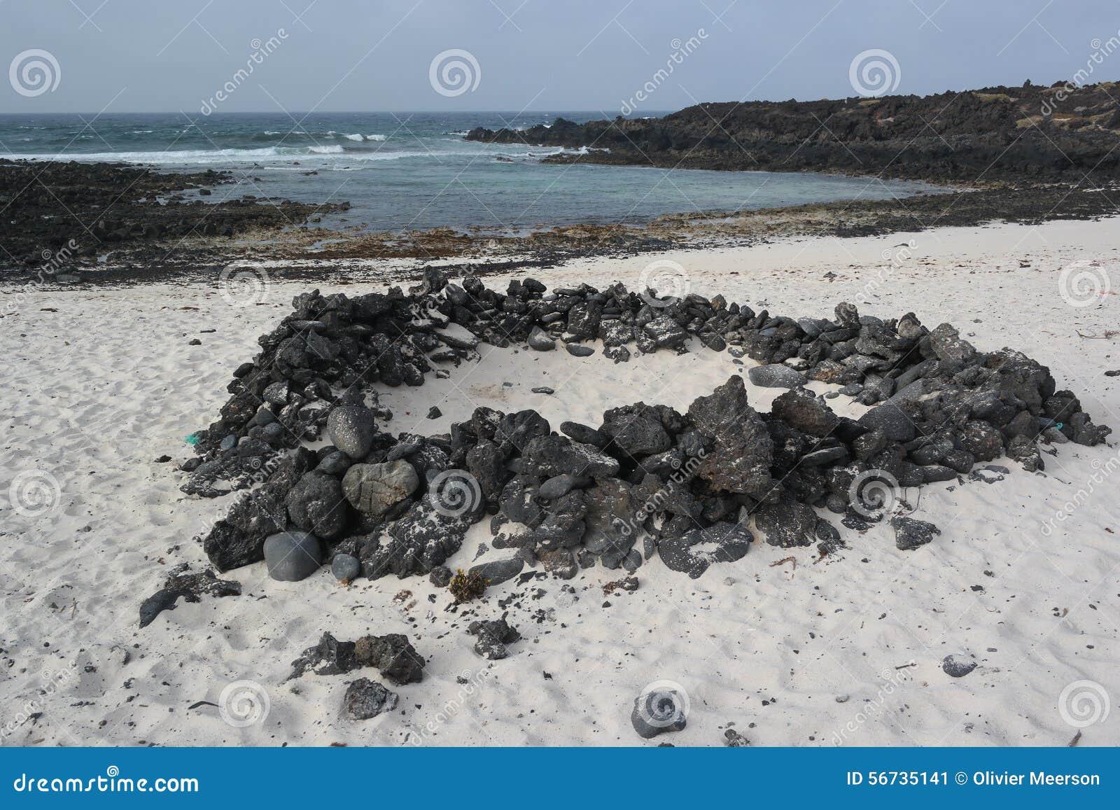 Paisaje de Orzola, Lanzarote, isla de los canarias