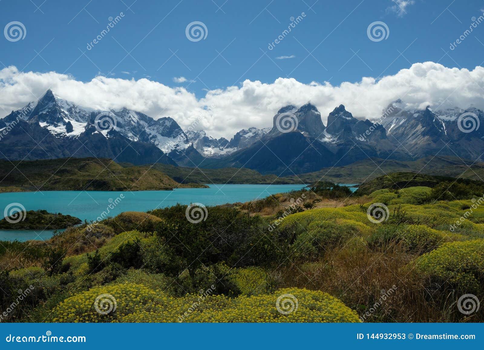 Paisaje de Torres del Paine, Patagonia, Chile