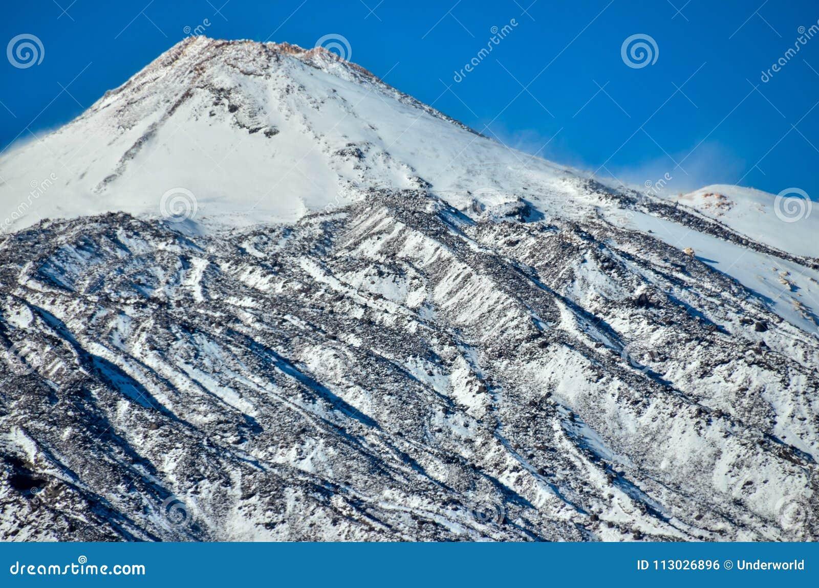 Paisaje del desierto en el parque nacional de Volcan Teide