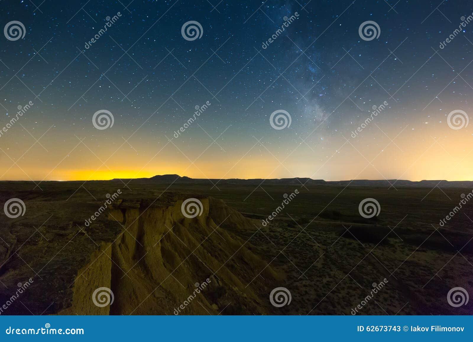 Paisaje Del Desierto En Noche Navarra Imagen De Archivo Imagen De