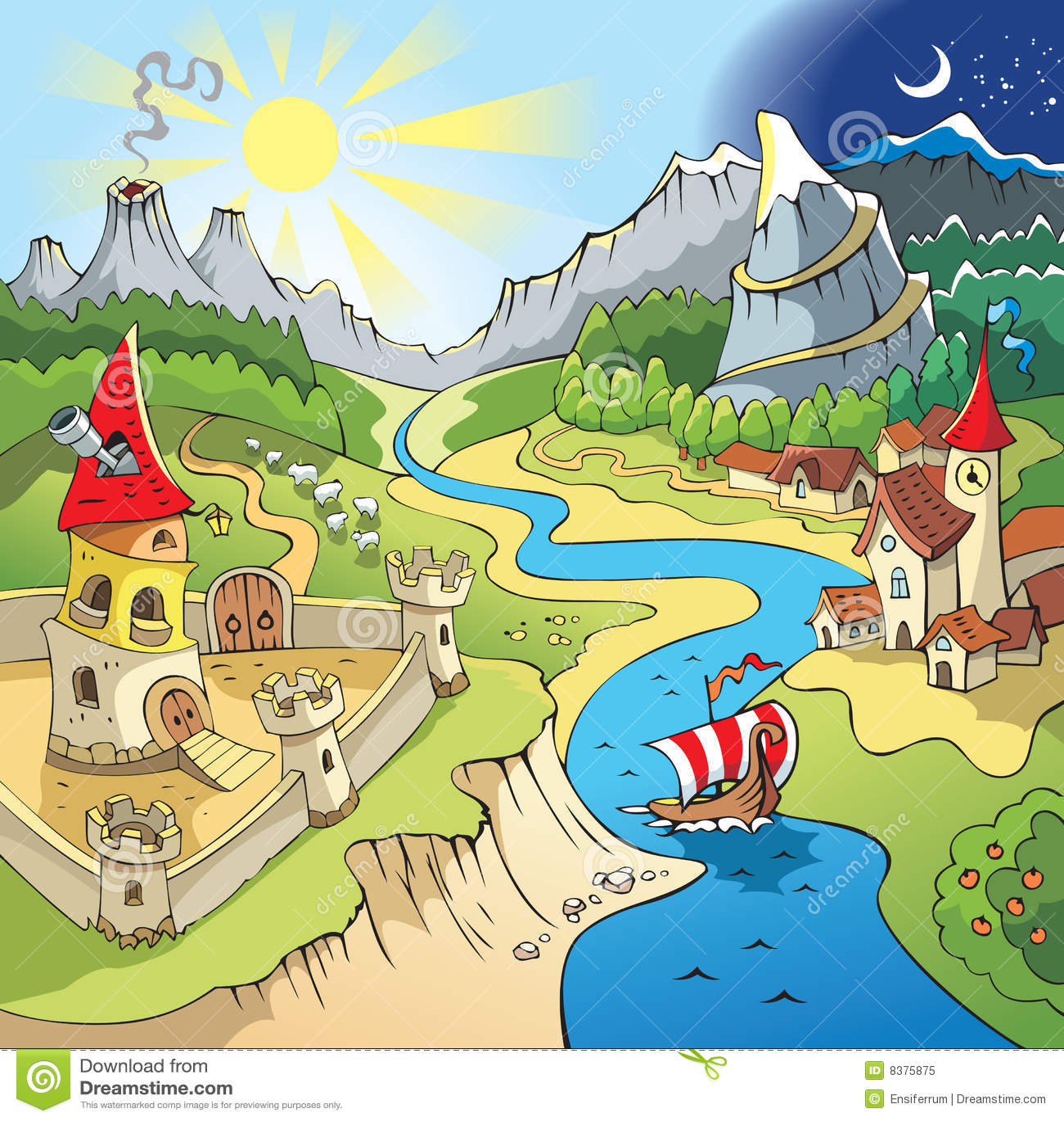 Paisaje del Fairy-tale