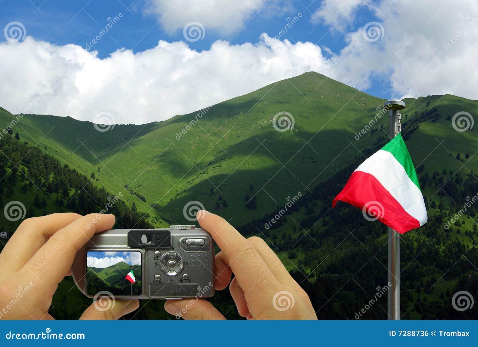 Paisaje del italiano de los montajes de la foto
