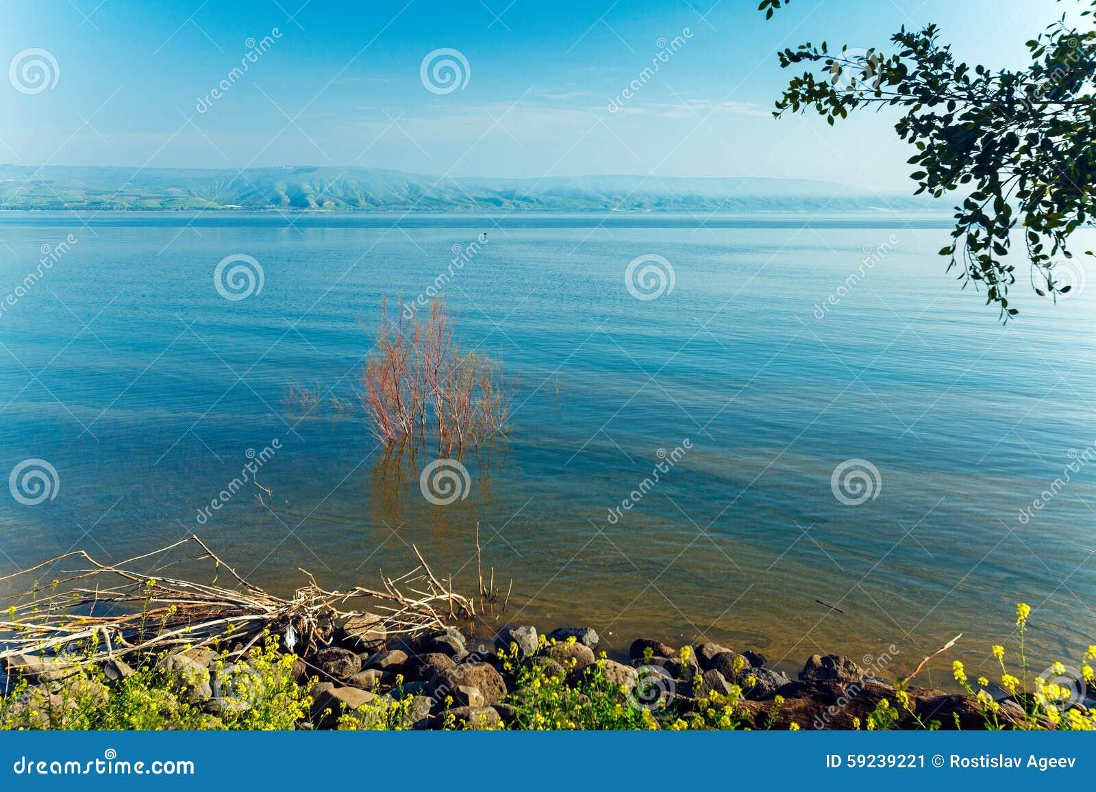 Paisaje del lago Kinneret - mar de Galilea