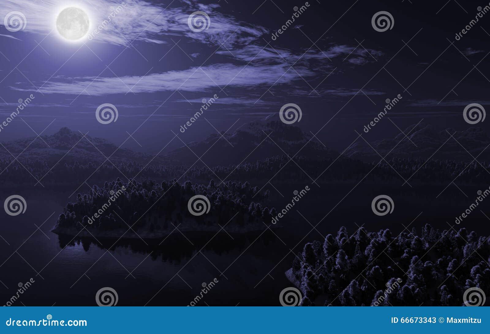 Paisaje del lago mountain