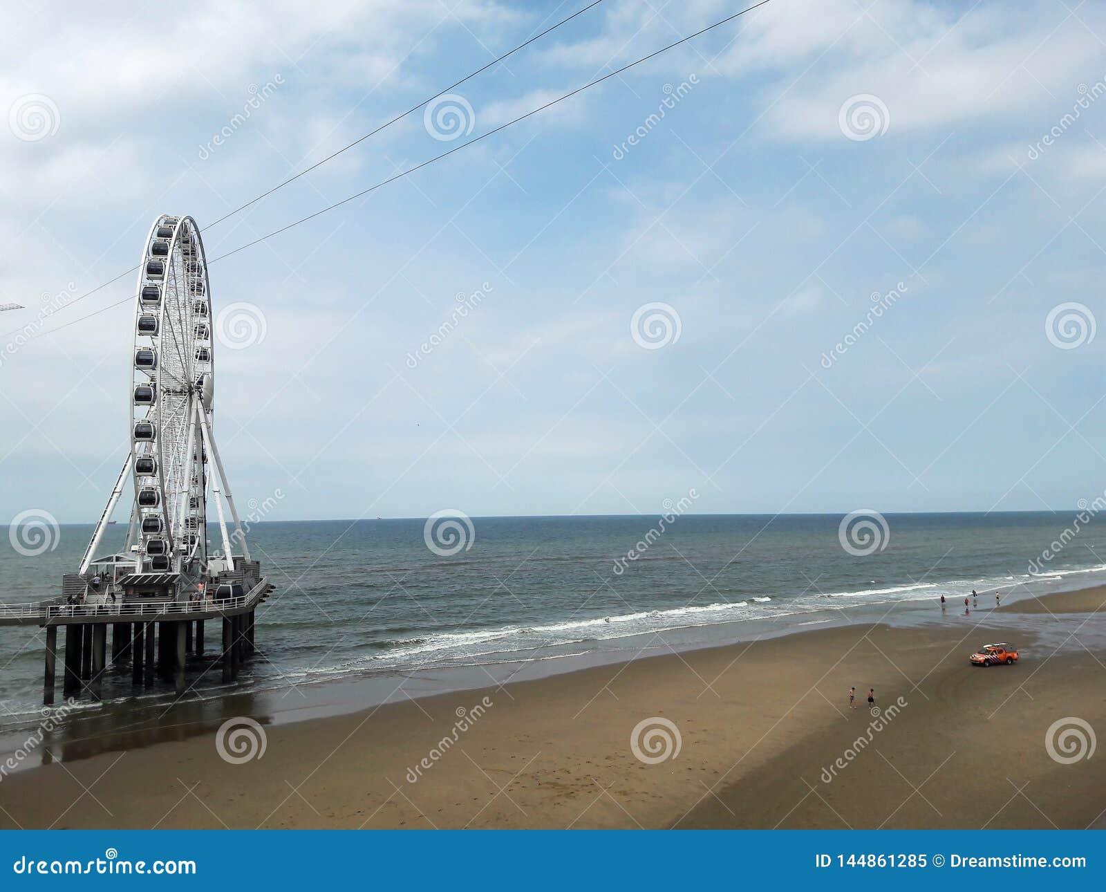 Paisaje del Mar del Norte La Haya, Holanda