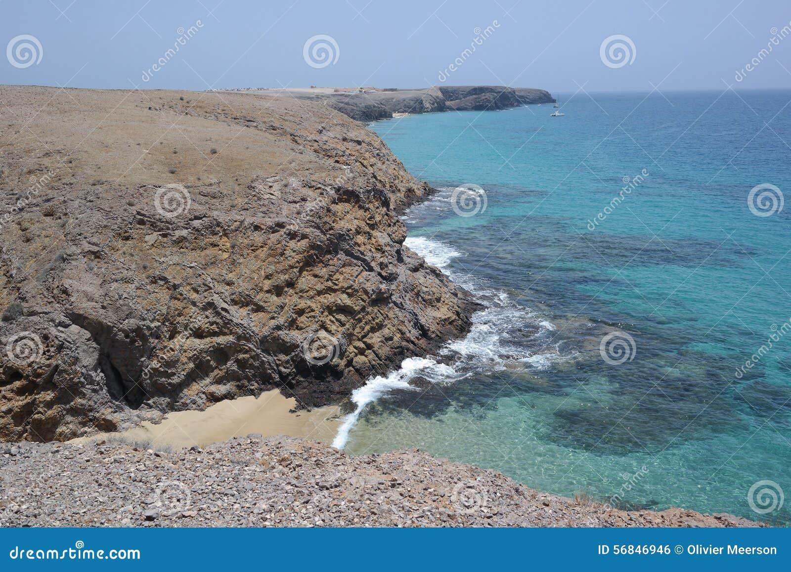 Paisaje del papagayo de Punta, Lanzarote, isla de los canarias