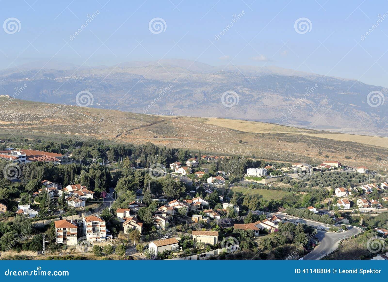 Metula Israel  city pictures gallery : Paisaje Del Pueblo De Metula, Israel Foto de archivo Imagen ...
