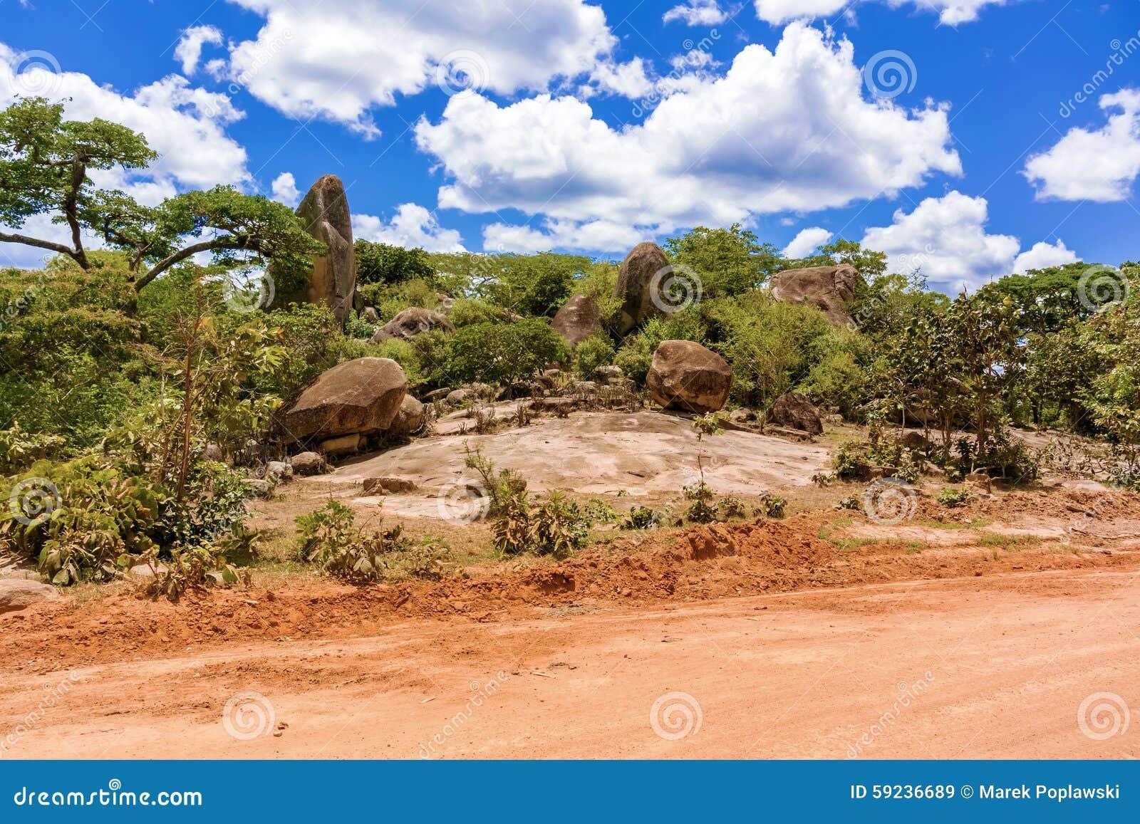 Download Paisaje en Tanzania imagen de archivo. Imagen de horizonte - 59236689