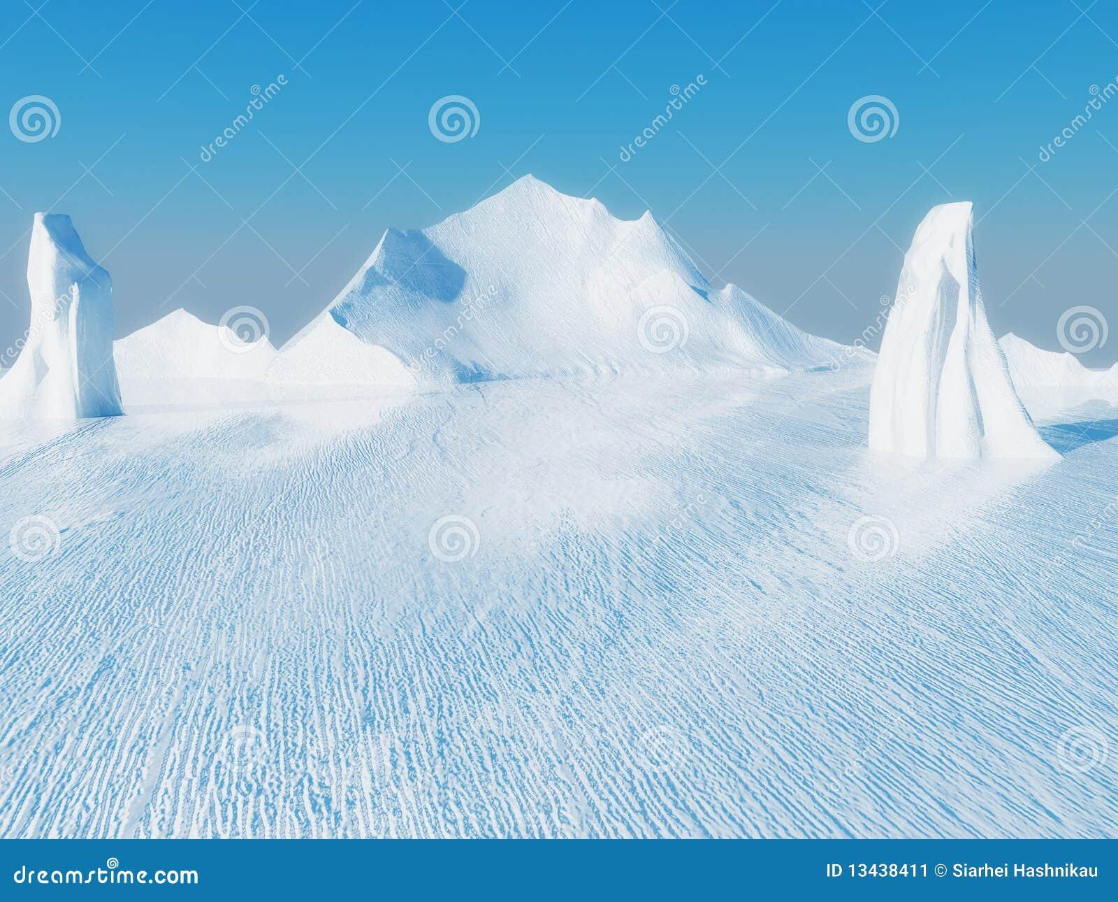 Paisaje hermoso del hielo