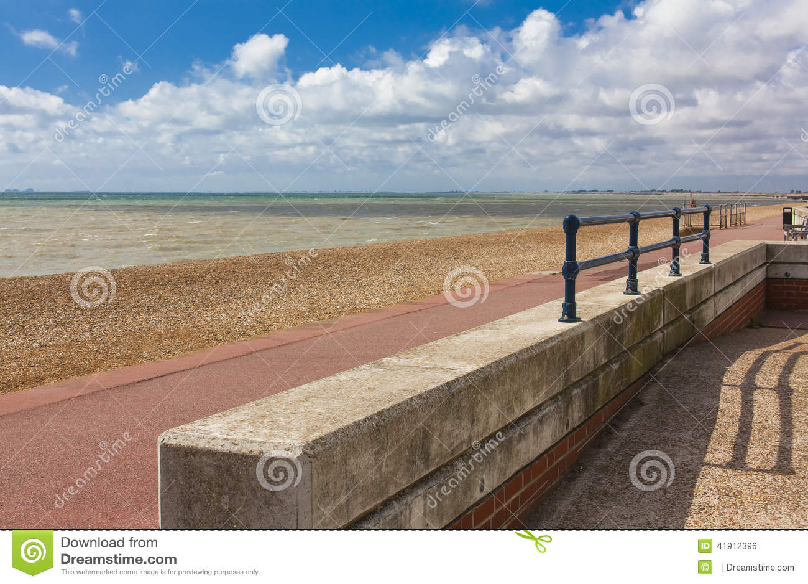 Paisaje hermoso del mar, Inglaterra,