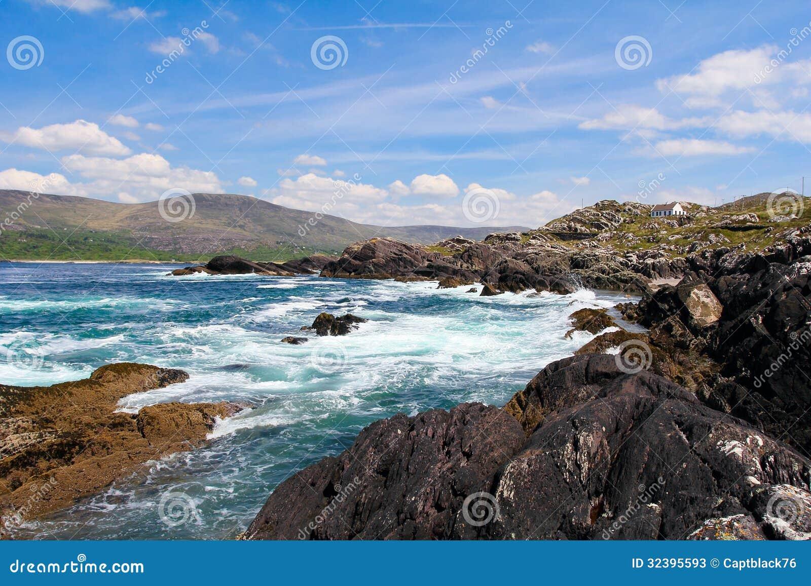 paisaje irland s en el anillo del camino costero de kerry