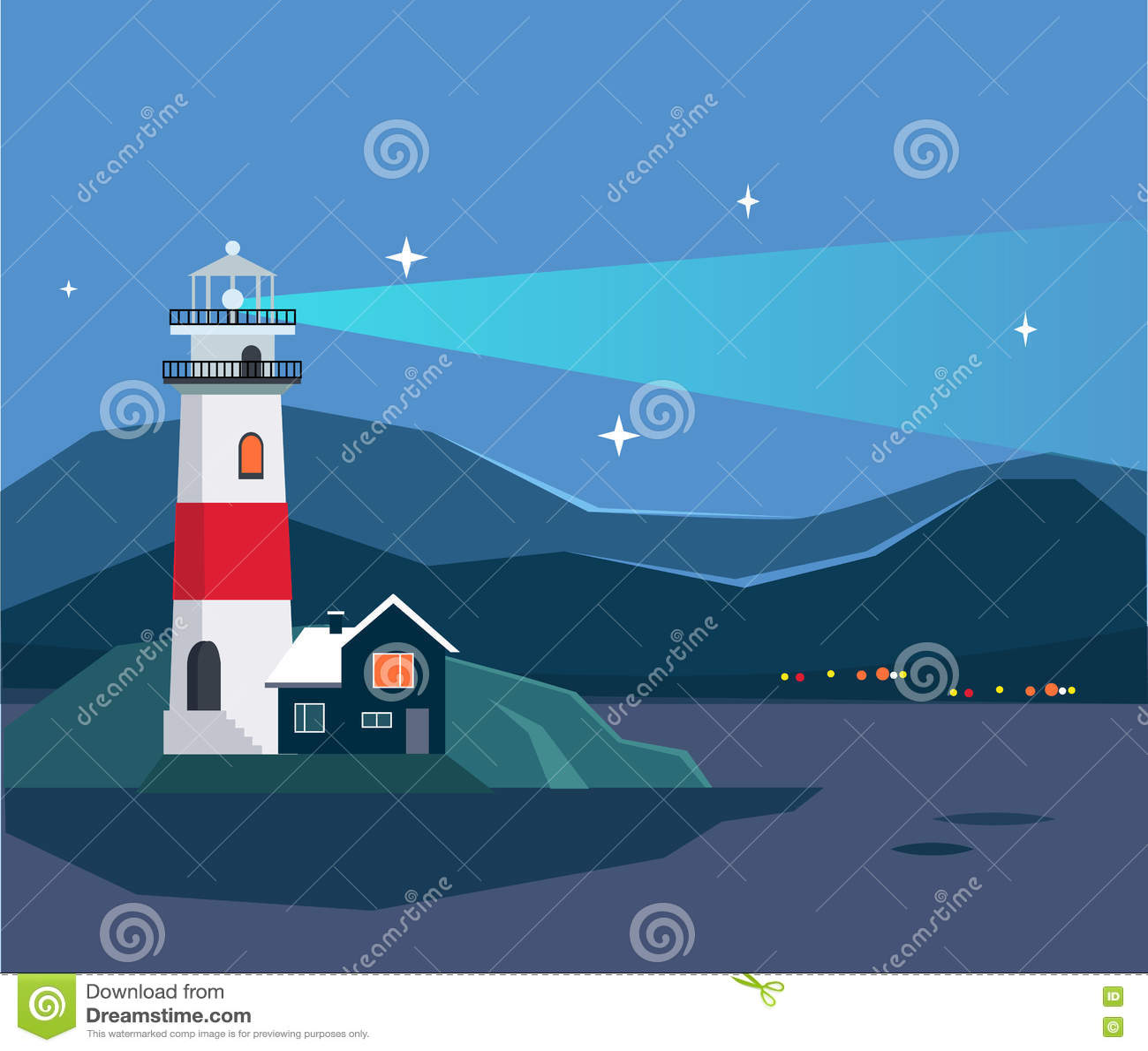 Paisaje marino de la casa ligera