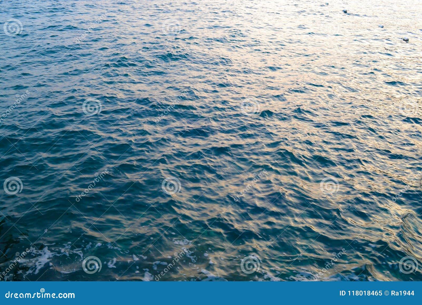Paisaje marino Ondas y espuma grandes del mar adriático