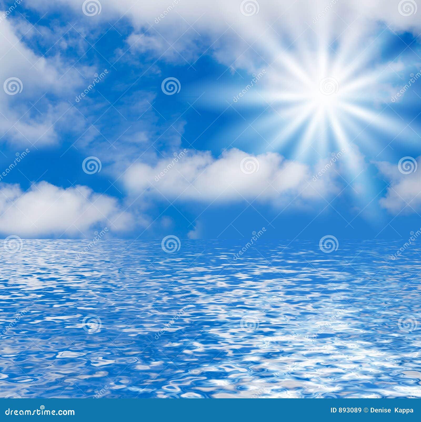 Paisaje marino y fondo del cielo stock de ilustraci n for La camera del cielo