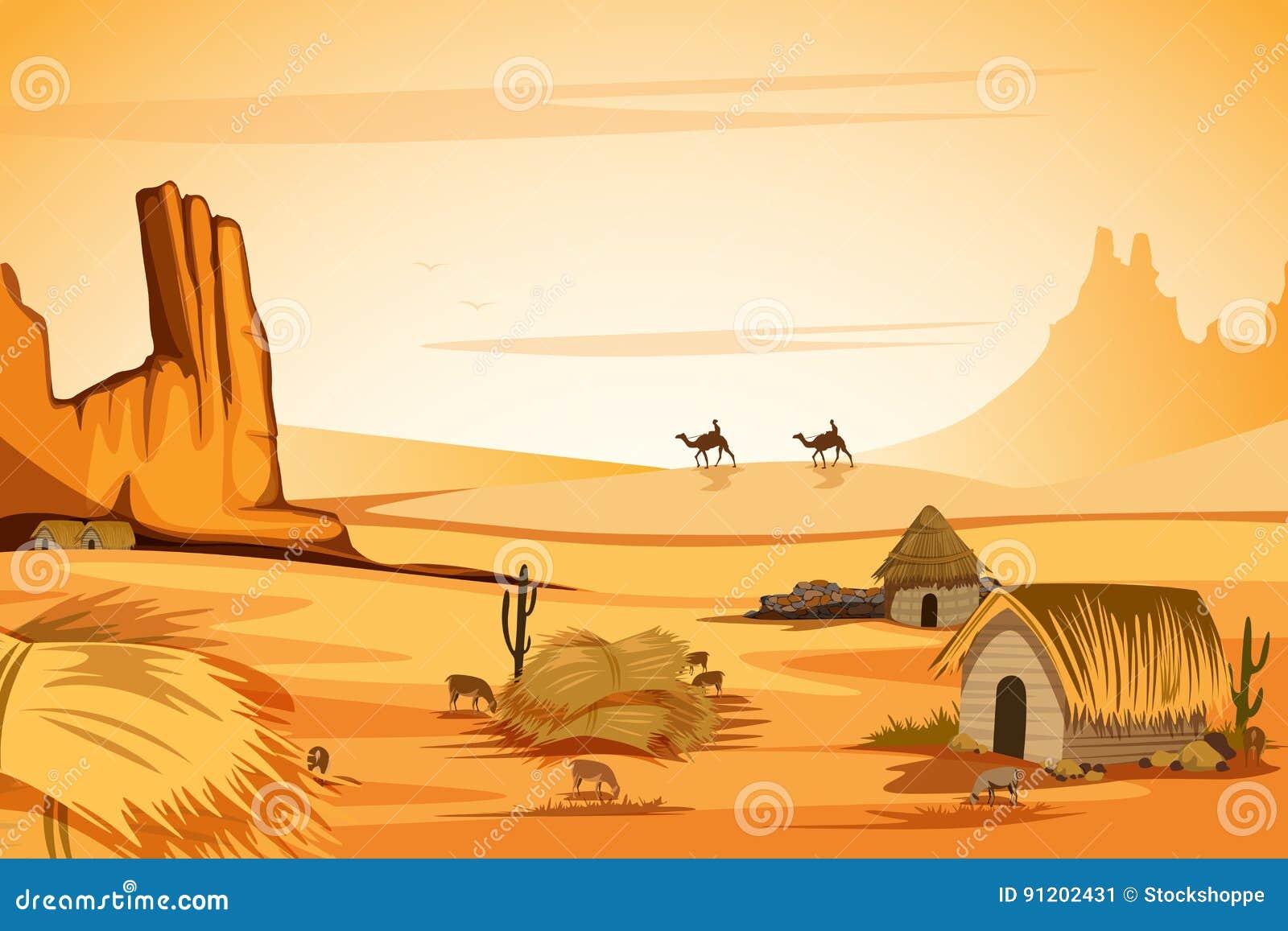 Paisaje natural de la duna de arena en desierto