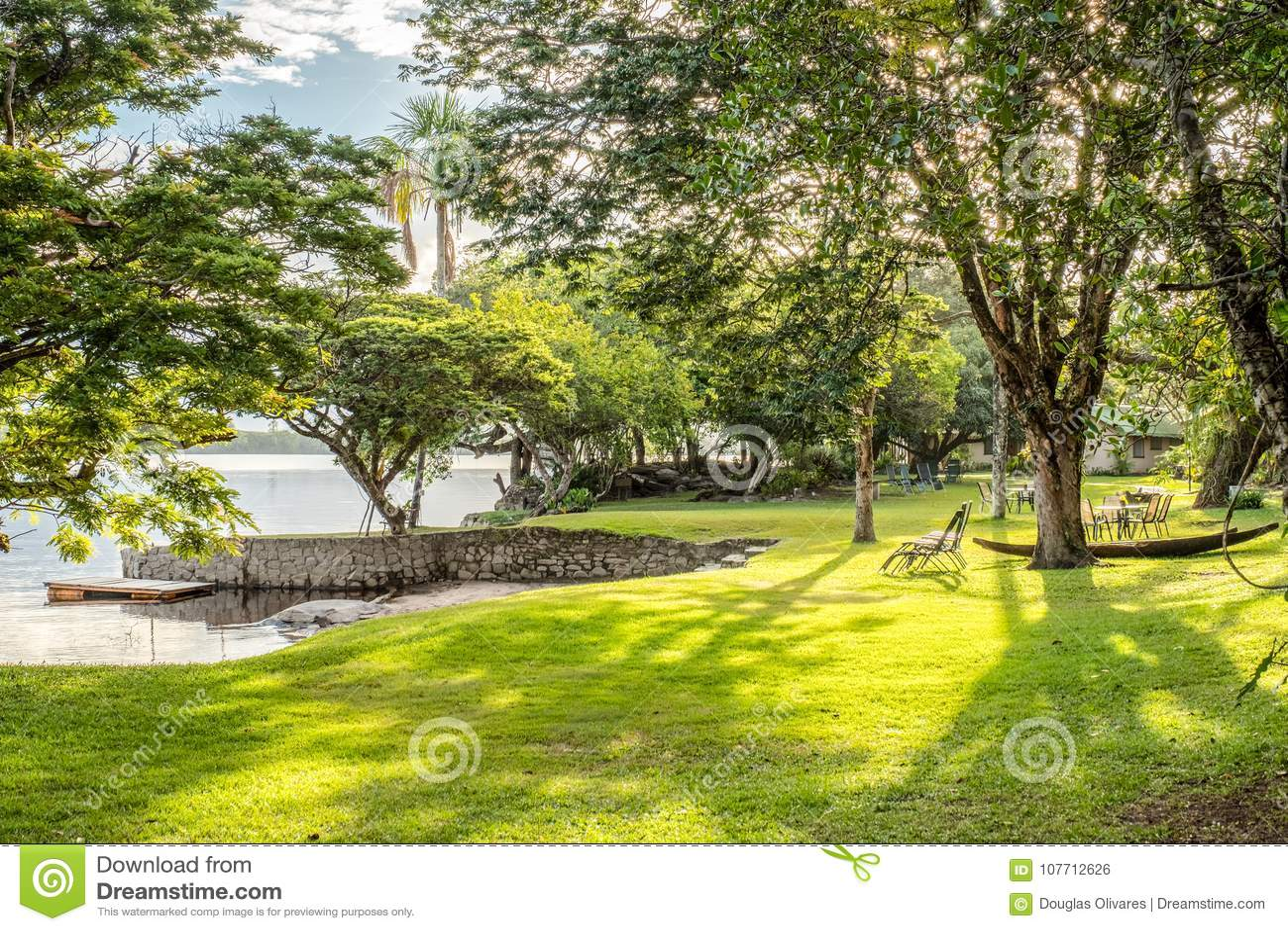 Paisaje Natural Hermoso En Canaima Venezuela Foto De Archivo