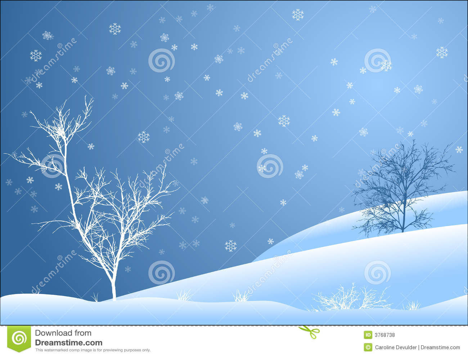 Paisaje nevado fotos de archivo libres de regal as - Paisaje nevado navidad ...