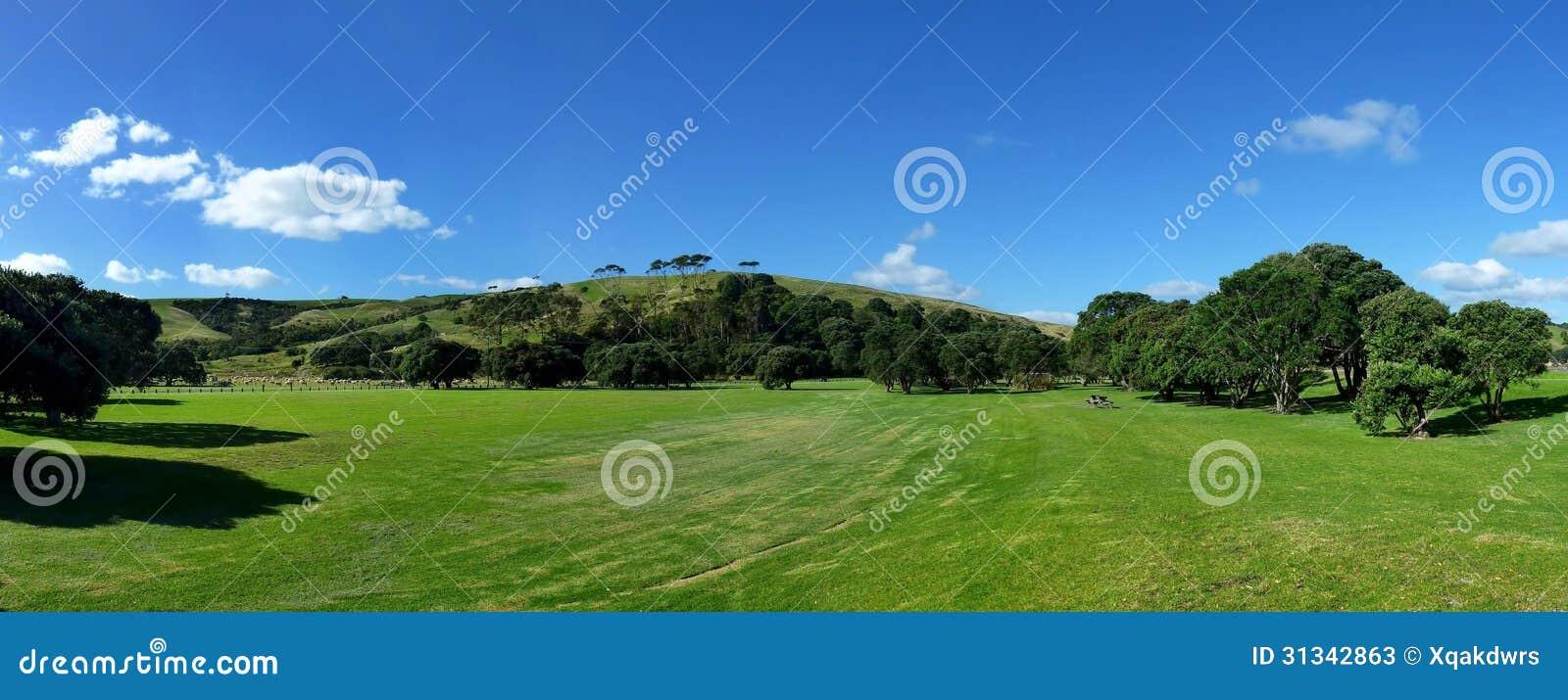 Paisaje panorámico de la colina