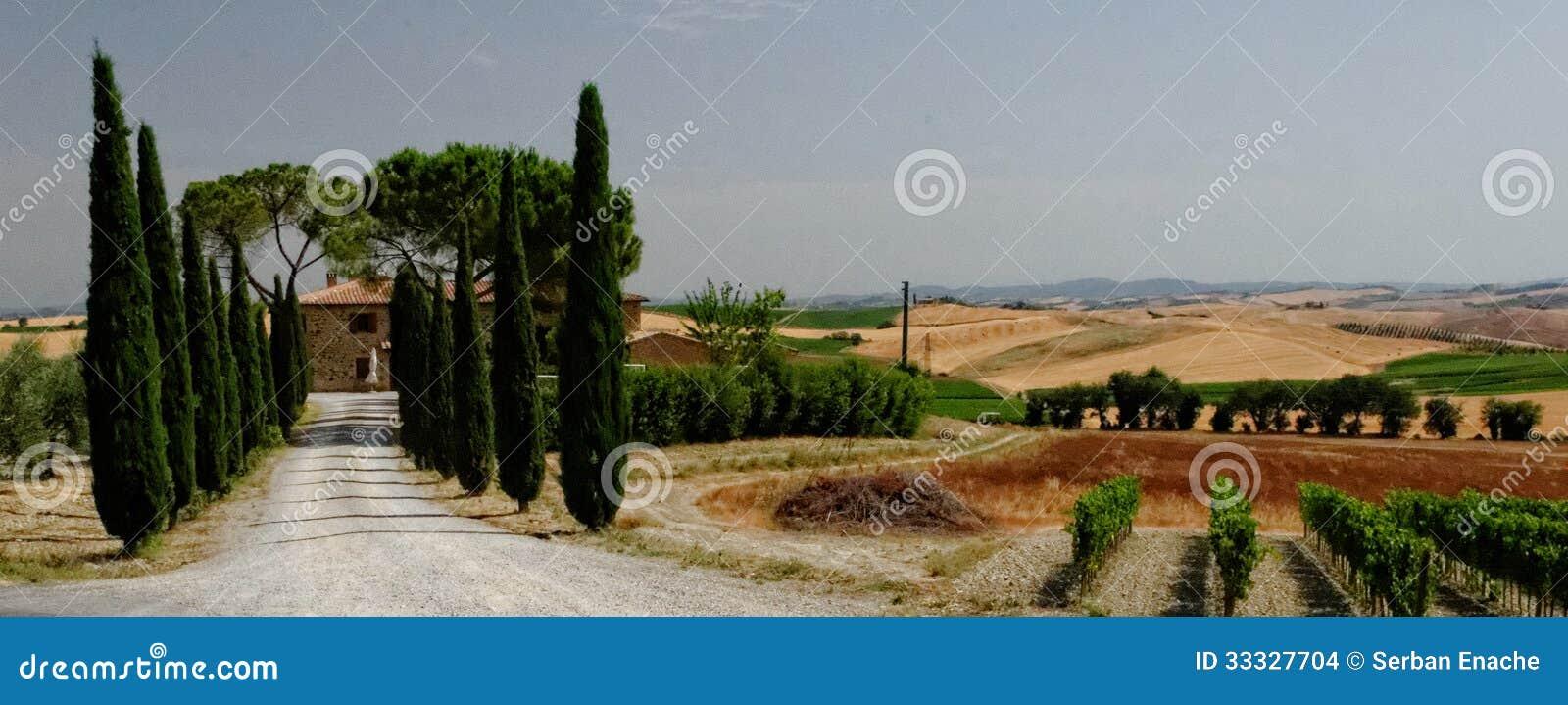 Paisaje panorámico de Toscana