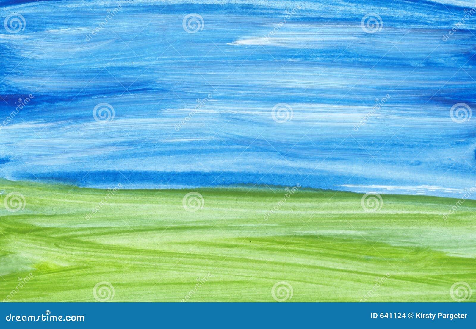Paisaje pintado a mano imagenes de archivo imagen 641124 - Papel pintado paisaje ...