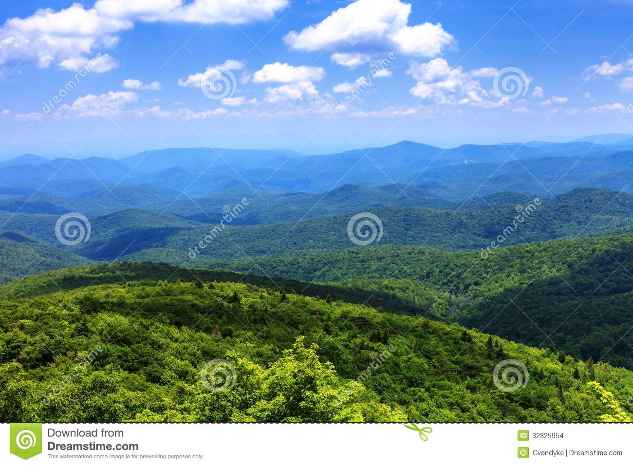 Paisaje Ridge Mountains Western azul NC
