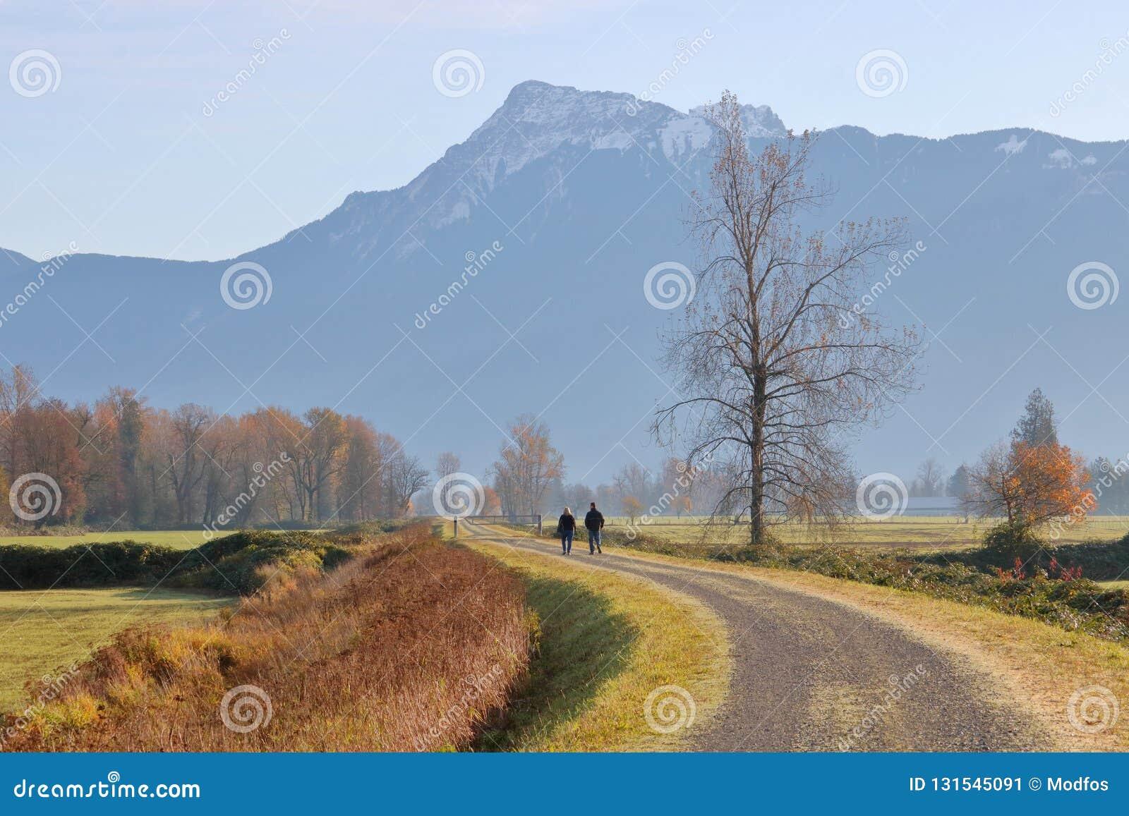 Paisaje rural de la Columbia Británica meridional