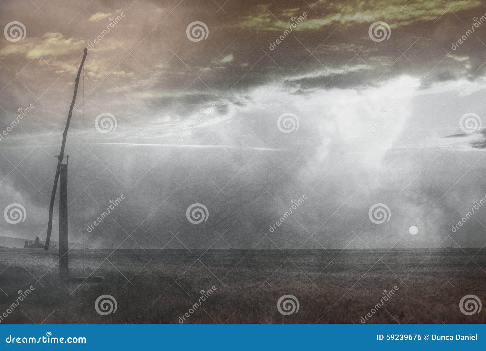 Download Paisaje Rural Del Campo De Rumania Foto de archivo - Imagen de nubes, césped: 59239676