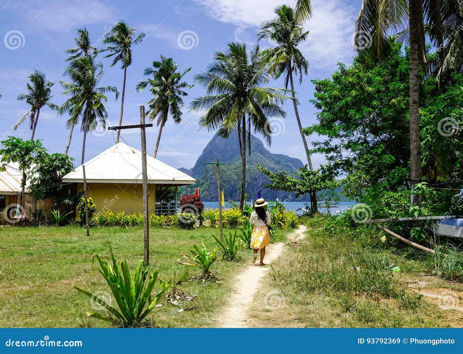 Paisaje rural en la isla de Palawan, Filipinas