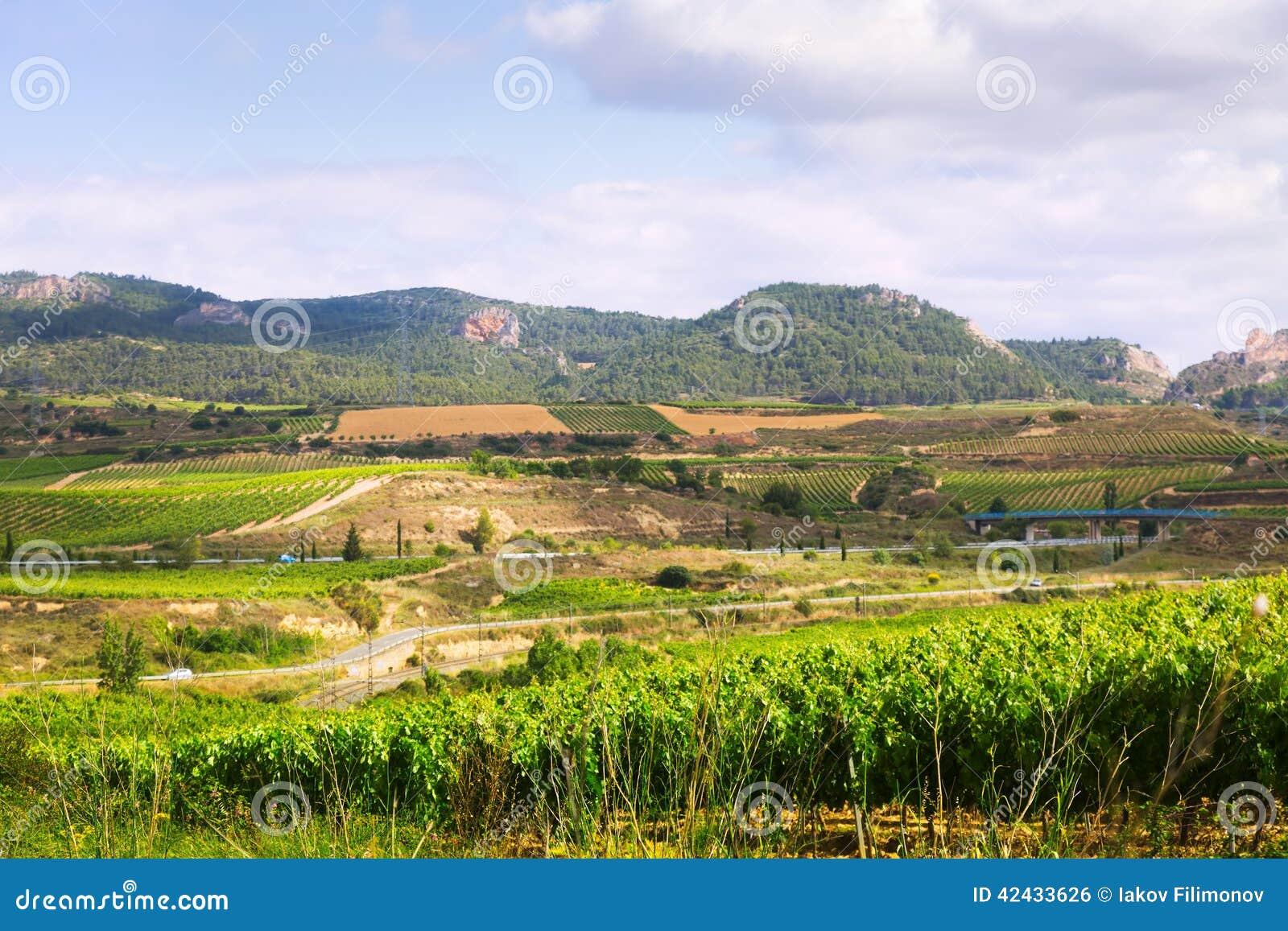 Paisaje rural en La Rioja