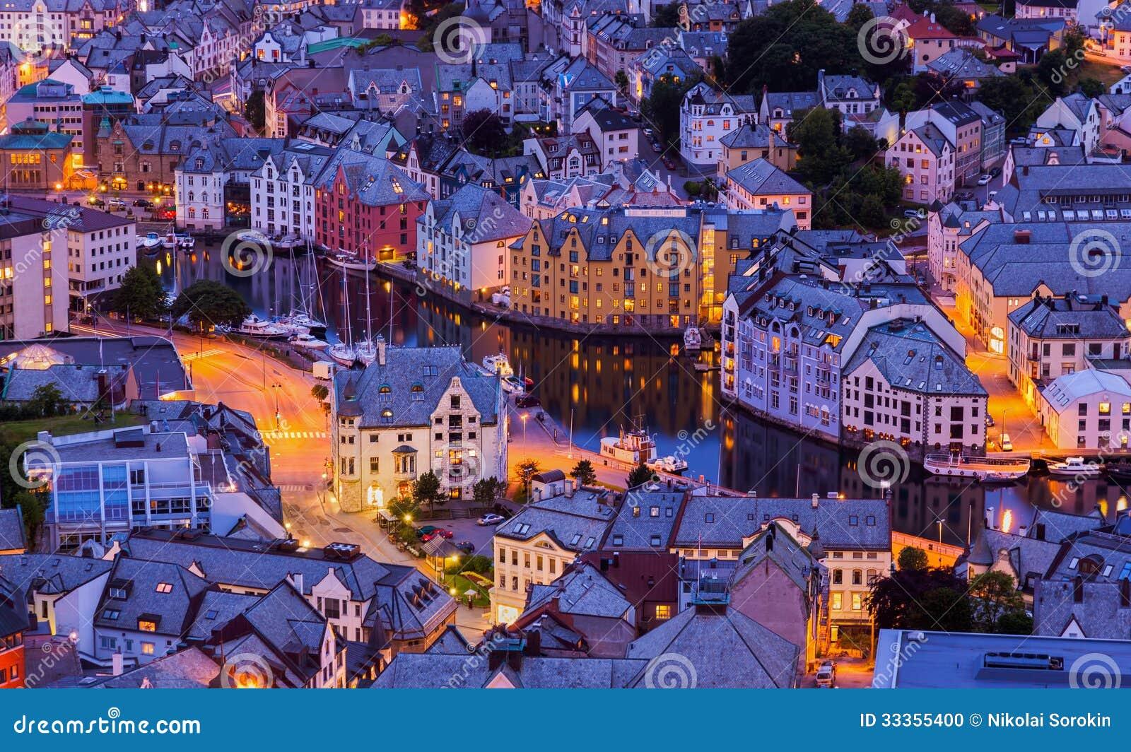 Paisaje urbano de Alesund - Noruega