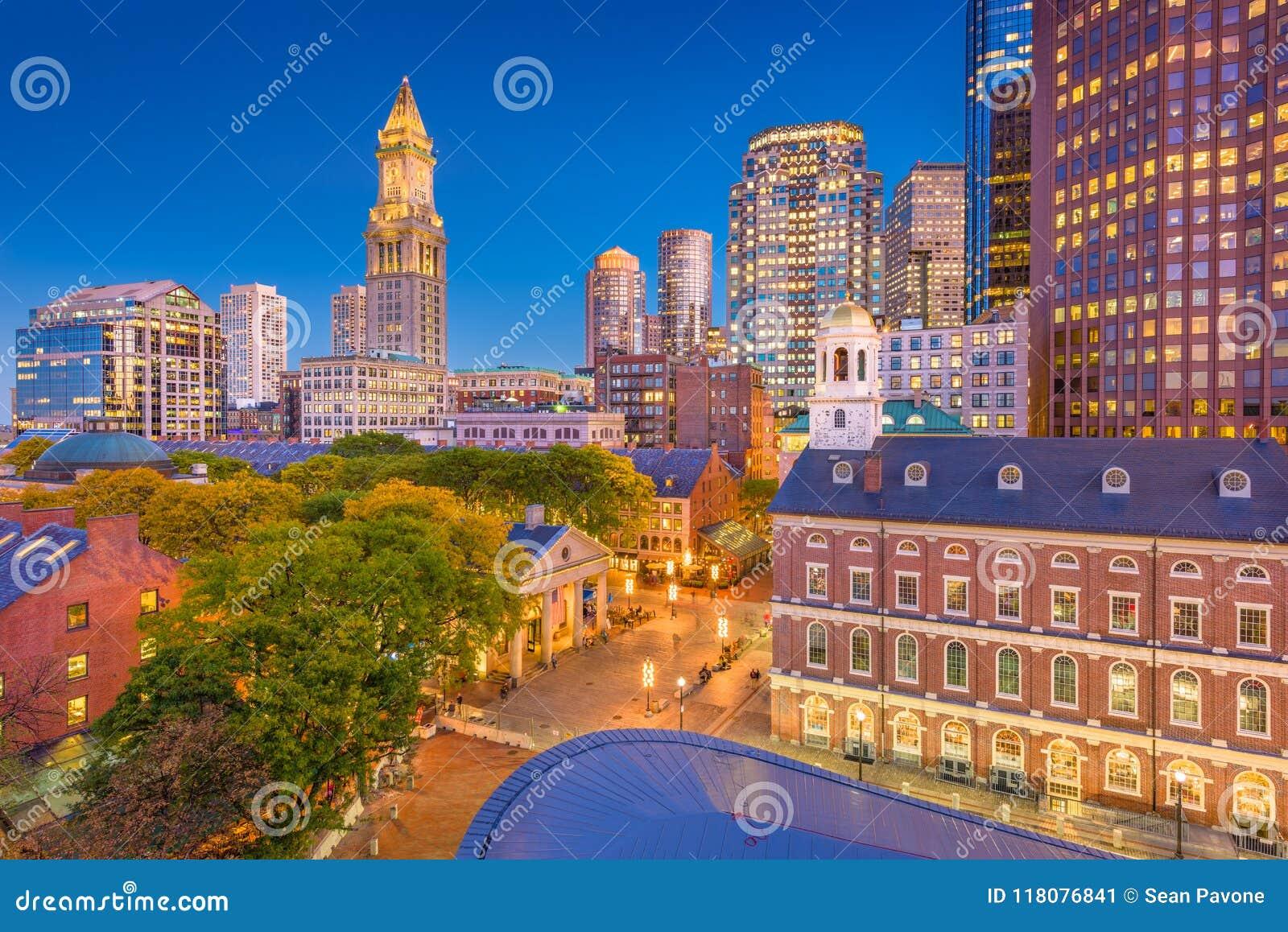 Paisaje urbano de Boston, Massachusetts, los E.E.U.U.