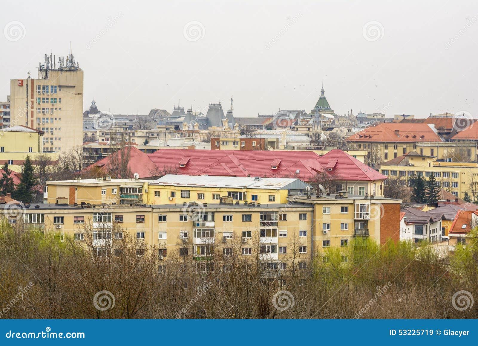 Paisaje urbano de Craiova desde arriba