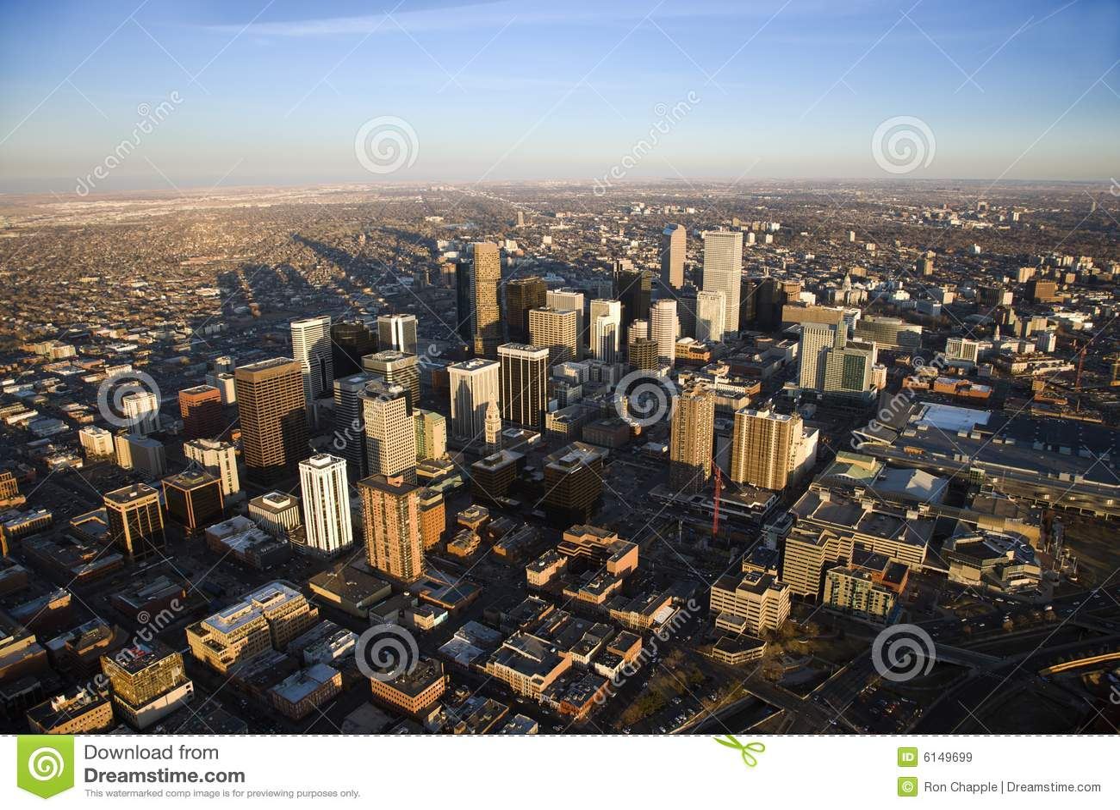 Paisaje urbano de Denver, Colorado, los E.E.U.U.