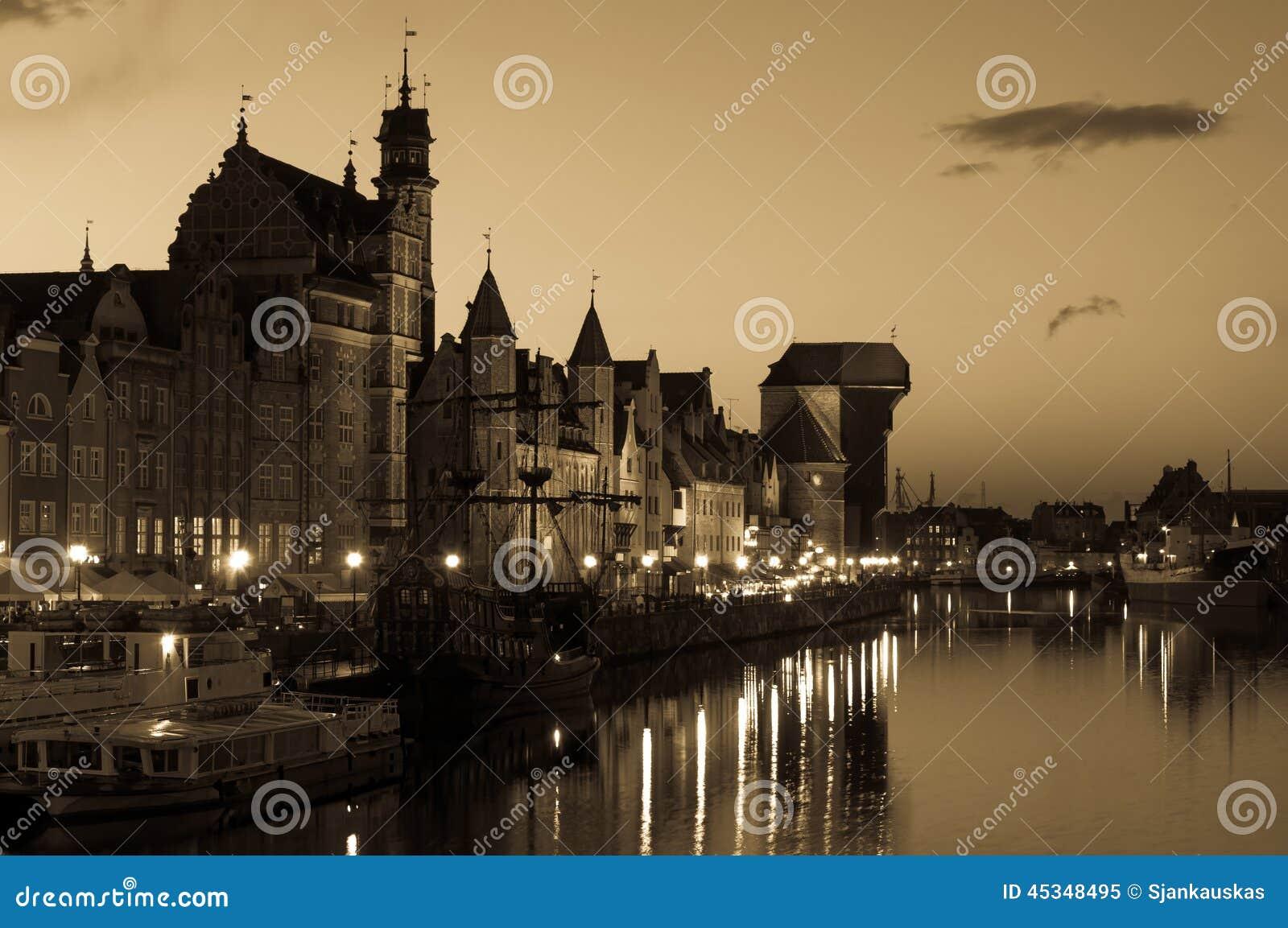 Paisaje urbano de Gdansk, Polonia