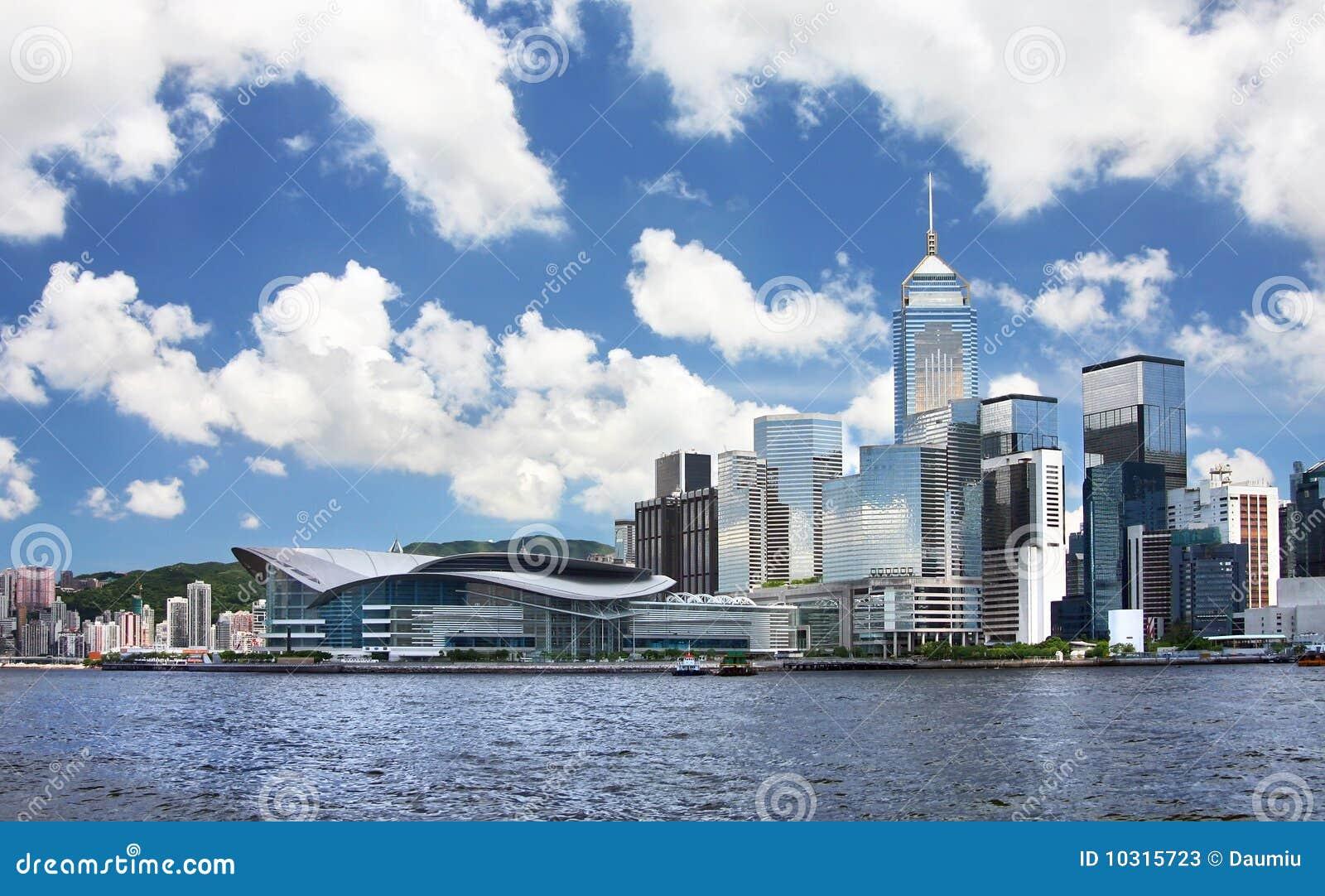 Paisaje urbano de Hong-Kong.
