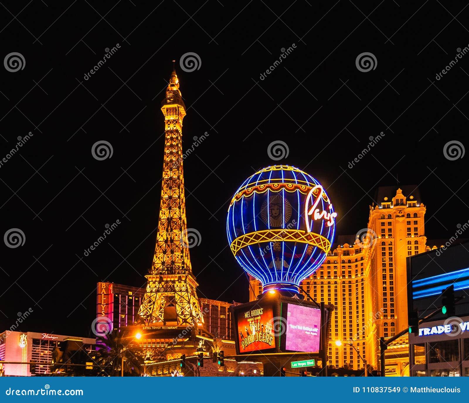Paisaje urbano de Las Vegas por noche