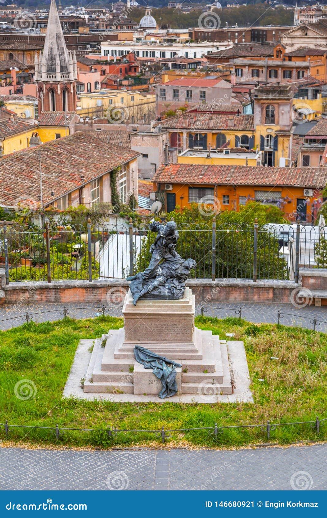 Paisaje Urbano A Reo De Roma De La Terraza De Pinco Foto
