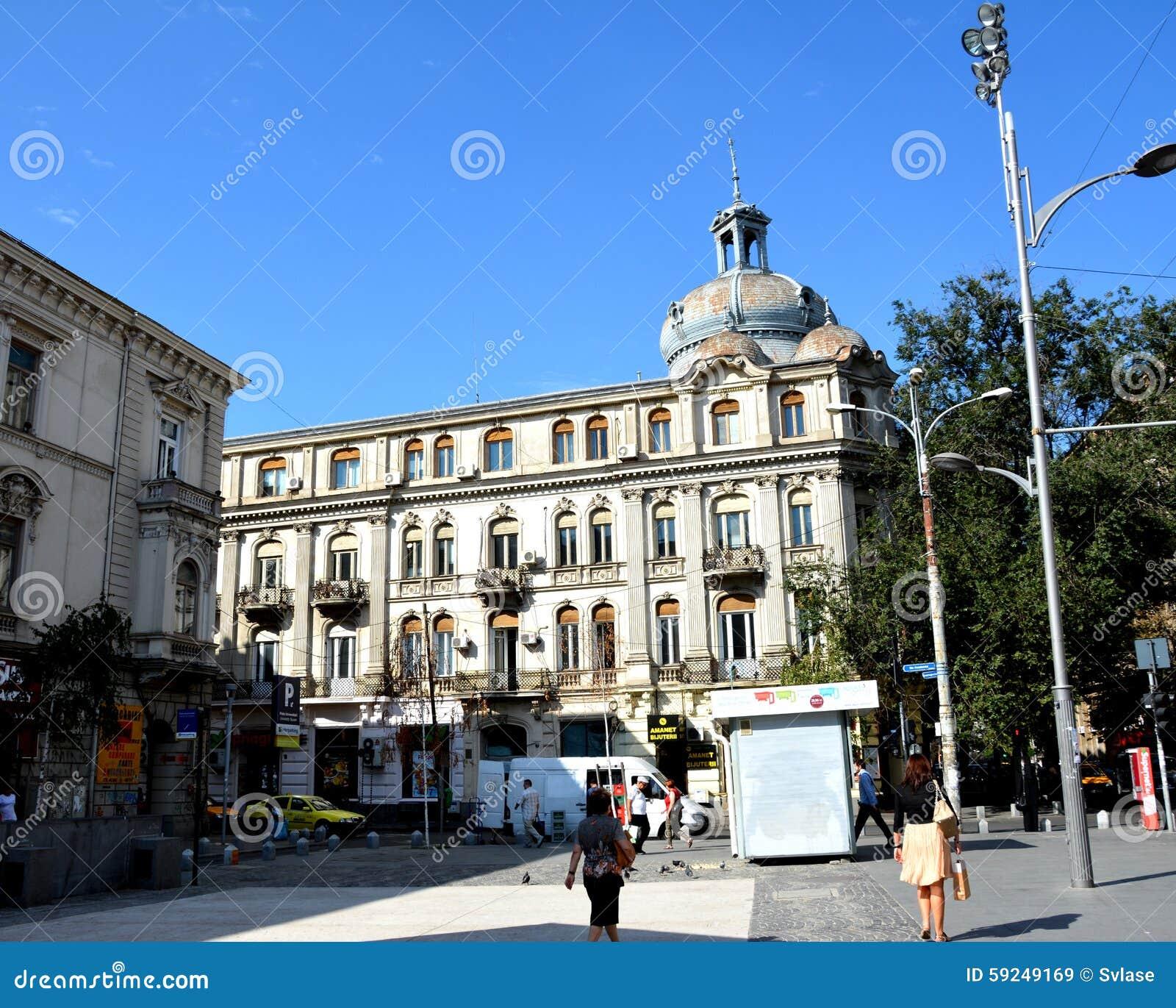 Paisaje urbano típico en Bucarest