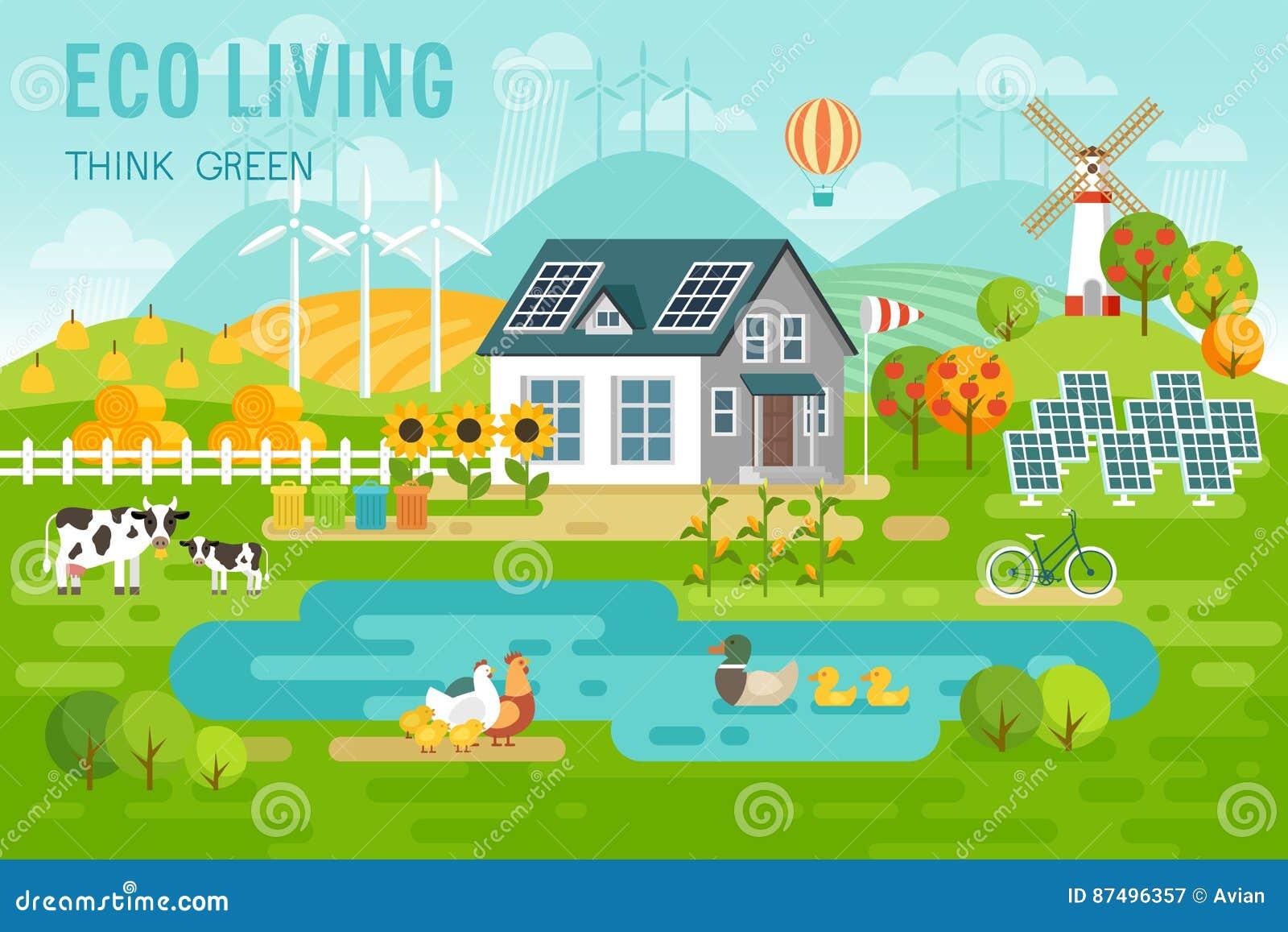 Paisaje vivo de eco con los animales de la casa y del - Ambientador natural para casa ...