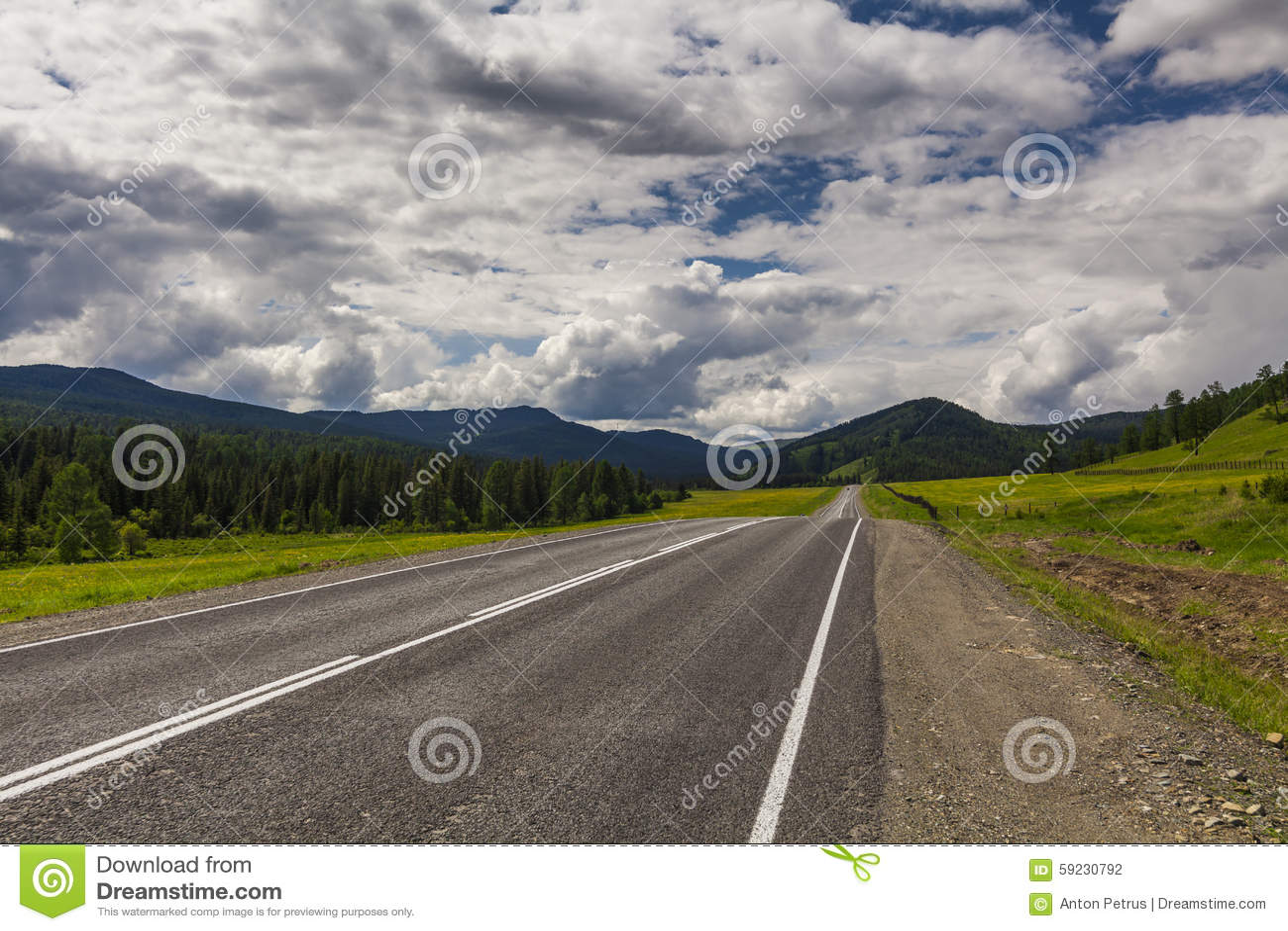 Download Paisaje Y Camino De La Montaña Foto de archivo - Imagen de camino, nubes: 59230792