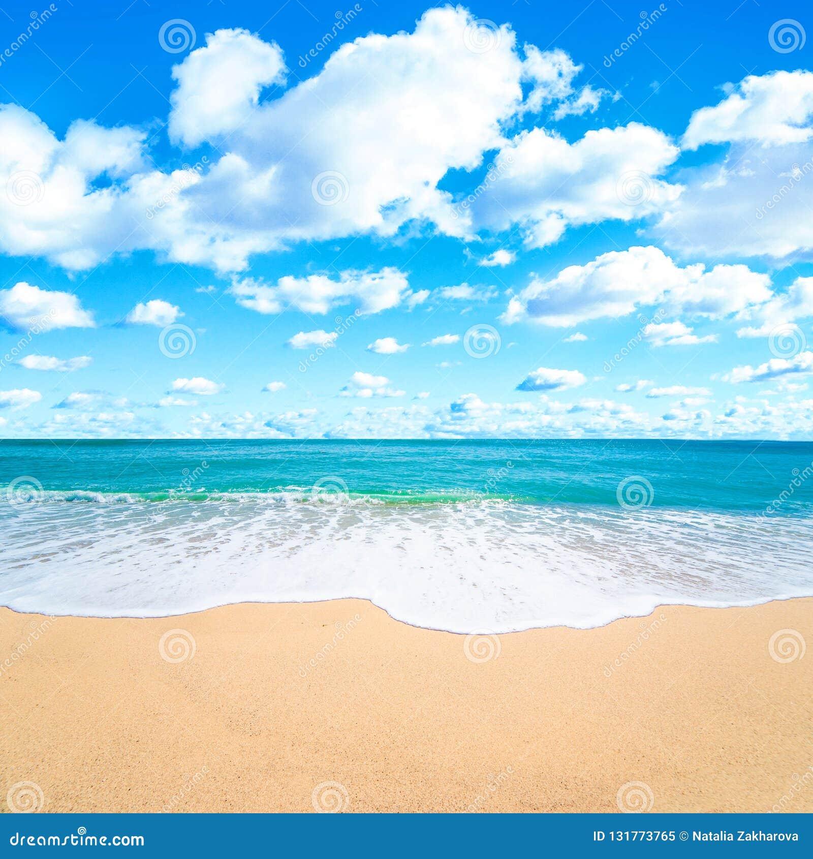 Paisajes tropicales hermosos del mar y de la playa Concepto de las vacaciones de verano para el turismo Paraíso de la naturaleza